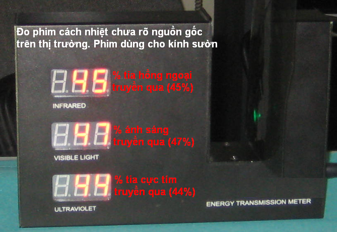 Kinh suon gia Kết quả đo phim cách nhiệt NEXCO và một số phim khác